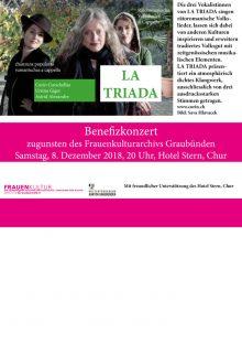 Frauenkulturarchiv Graubünden: Benefizkonzert mit La Triada
