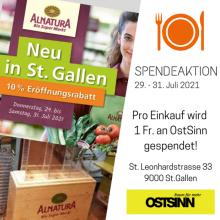 OstSinn-Aktion: Eröffnung Alnatura Bio Super Markt St. Gallen