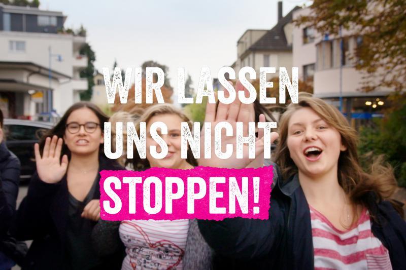 Je älter Mädchen, desto mehr lassen sie sich beschränken. #UNSTOPPABLE und die FHS Ostschweiz schreien auf
