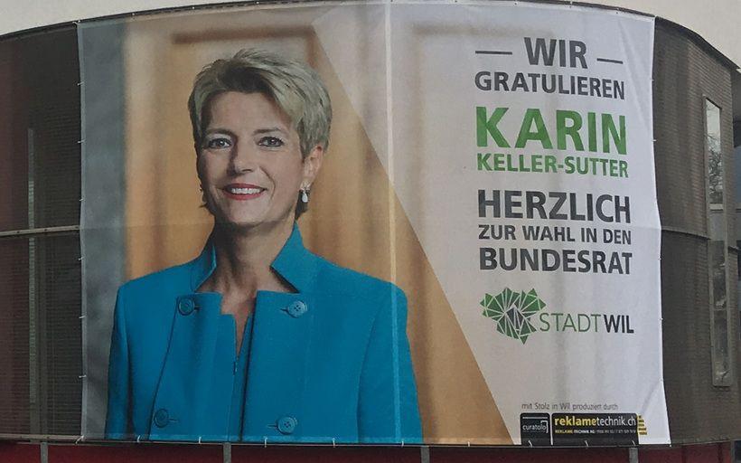 Empfang der neuen Bundesrätin Karin Keller-Sutter in ihrer Heimat St. Gallen und Wil