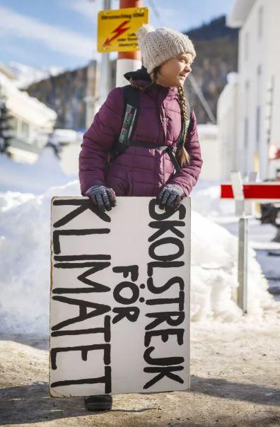 «Skolstrejk for klimatet» – Greta Thunberg ist der wahre Star des WEF