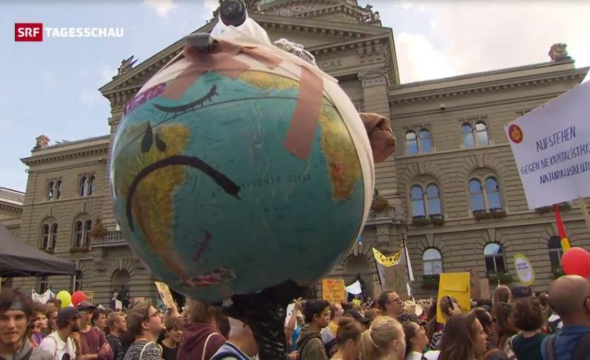 100'000 Teilnehmende an der nationalen Klimademo in Bern