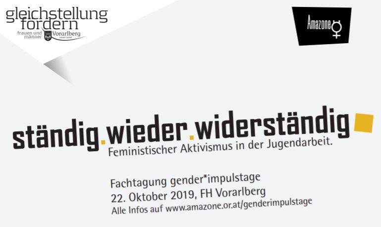 gender*impulstage 2019 – ständig.wieder.widerständig